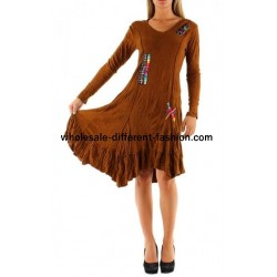 dresses tunics winter brand dy design 2078CA bohemian hippie clothing
