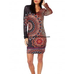 dress tunic leopard winter 101 idées 318IN for boutiques clothing