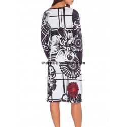 dress plus size print winter 101 idées 032W LARGE bohemian hippie