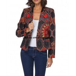 jacket print plus size label 101 IDEES 052CAS stockist desigual