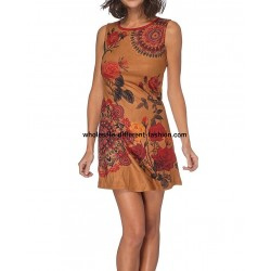dress tunic suede 101 idées 035W bohemian hippie clothing