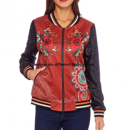 bomber print mid season 101 idées 352BOM cheap wholesale clothing