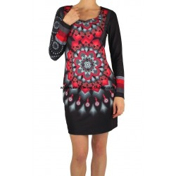 dress tunic print mid season 101 idées 402VC wholesale Spanish