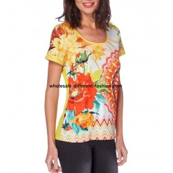 tshirt top print summer brand 101 idées Design 558AMVRA distributors