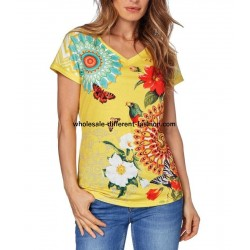 tshirt top print summer brand 101 idées Design 417Y wholesale Spanish