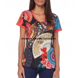 tshirt top print summer brand 101 idées Design 563PVRA suppliers uk