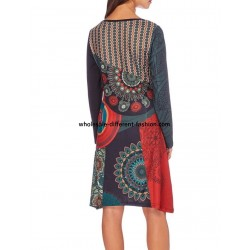dress plus size print winter 101 idées 191W suppliers Clothing