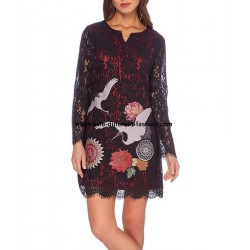dress tunic lace chic 101 idées 914W indispensable marks the