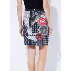 Mini skirt suede print floral ethnic 101 idées 3130W new collection