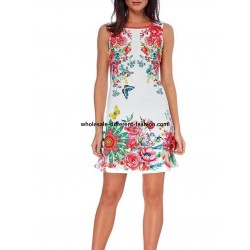 dress tunic summer print floral 101 idées 221Y wholesale clothes for women