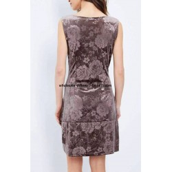 buy bulk dress tunic velvet floral winter 101 idées 2052Z