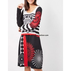 robe grand taille mandala hiver 101 idées 187ZL grossiste