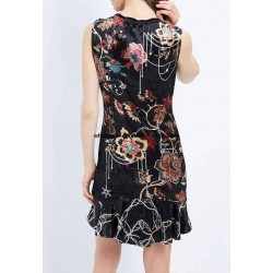 buy bulk dress tunic velvet floral winter 101 idées 2029Z