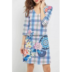 buy bulk dress tunic floral print summer 101 idées 4607P