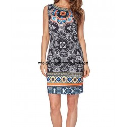 wholesale dress tunic ethnic print summer 101 idées 102P